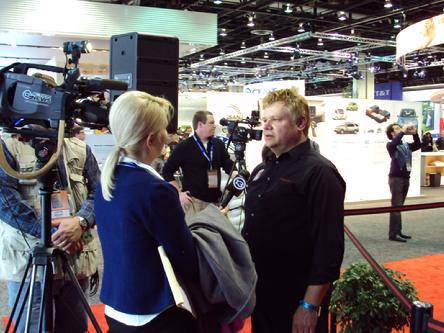 NAIAS 2010 Detroit Auto Show ABC TV interview Doug Pelmear HP2g 110mpg economy