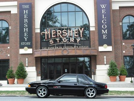 HP2g E85 V8 400 horsepower 110mpg fuel economy Mustang driven Hershey PA USA